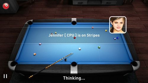 Écrans du jeu Real pool 3D pour iPhone, iPad ou iPod.