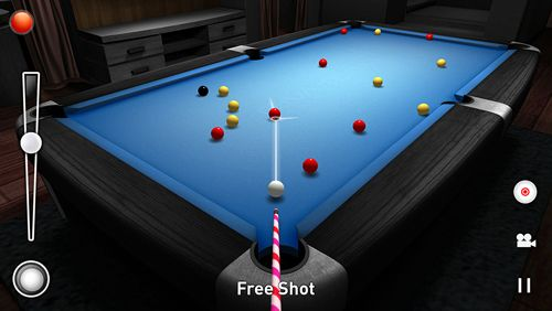 Capturas de pantalla del juego Real pool 3D para iPhone, iPad o iPod.