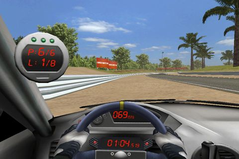 Capturas de pantalla del juego Real racing para iPhone, iPad o iPod.