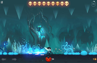 Screenshots vom Spiel Reaper - Tale of a Pale Swordsman für iPhone, iPad oder iPod.