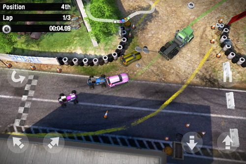 Геймплей Reckless racing 3 для Айпад.