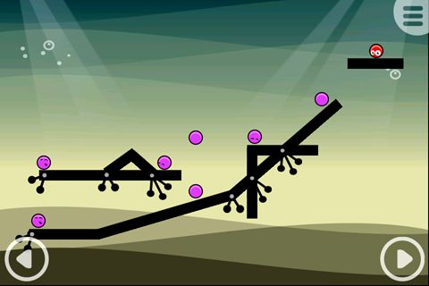 Capturas de pantalla del juego Red balls of Goo para iPhone, iPad o iPod.