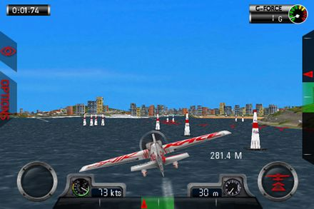 Écrans du jeu Red Bull air race World championship pour iPhone, iPad ou iPod.