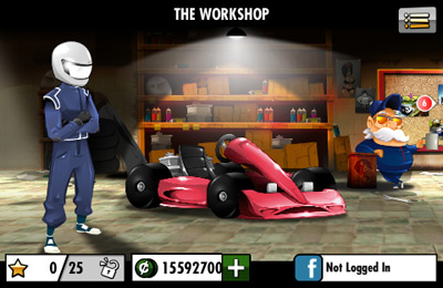 Capturas de pantalla del juego Red Bull Kart Fighter 3 - Unbeaten Tracks para iPhone, iPad o iPod.