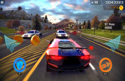 Capturas de pantalla del juego Redline Rush para iPhone, iPad o iPod.