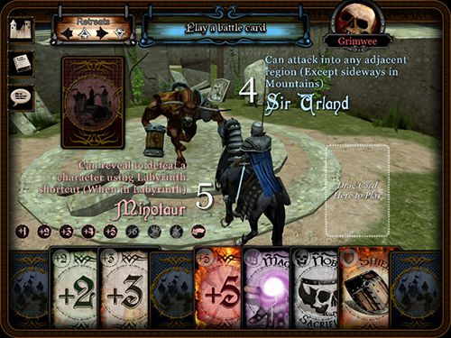 Screenshots of the Reiner Knizia: Confrontation game for iPhone, iPad or iPod.