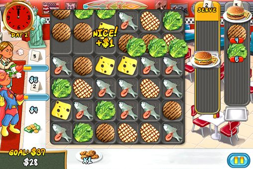 Screenshots of the Restaurant rush game for iPhone, iPad or iPod.