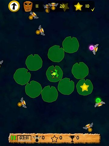 Screenshots of the Revenge of toxic frog game for iPhone, iPad or iPod.
