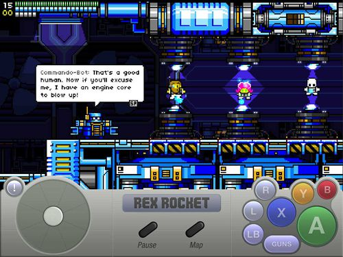 Screenshots of the Rex rocket game for iPhone, iPad or iPod.