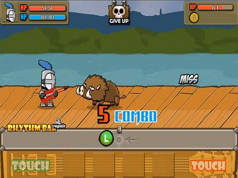 Capturas de pantalla del juego Rhythm warrior para iPhone, iPad o iPod.