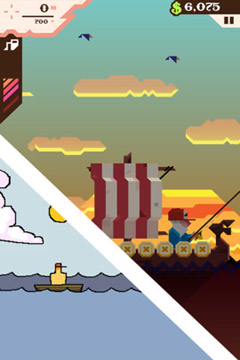 Screenshots do jogo Ridiculous Fishing - A Tale of Redemption para iPhone, iPad ou iPod.