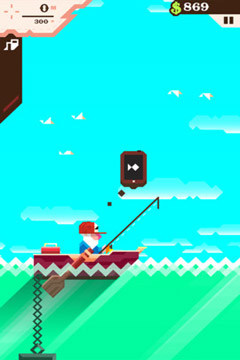 Écrans du jeu Ridiculous Fishing - A Tale of Redemption pour iPhone, iPad ou iPod.