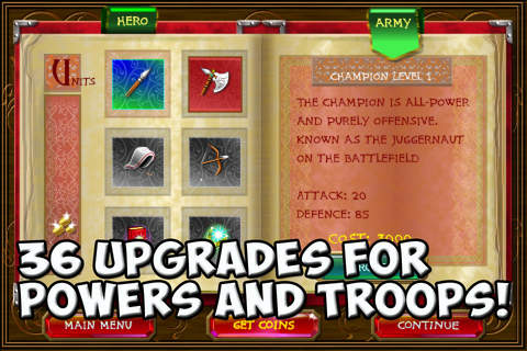Screenshots of the Rise of heroes game for iPhone, iPad or iPod.