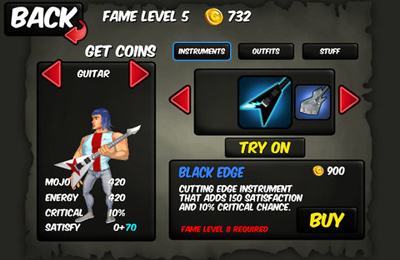 Download Rise to Fame: The Music RPG iPhone free game.