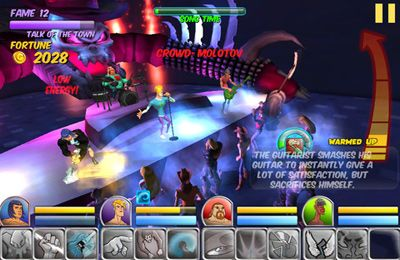Screenshots of the Rise to Fame: The Music RPG game for iPhone, iPad or iPod.