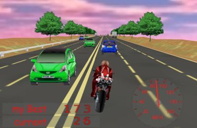 Screenshots of the Risky Rider game for iPhone, iPad or iPod.
