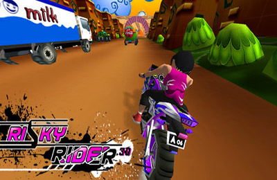 Écrans du jeu Risky Rider 3D (Motor Bike Racing Game / Games) pour iPhone, iPad ou iPod.