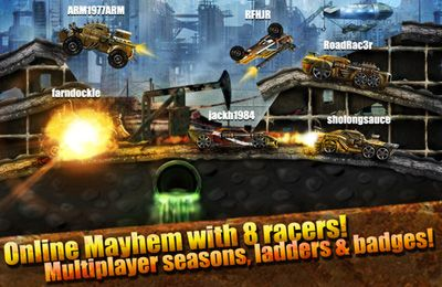 Геймплей Road Warrior Multiplayer Racing для Айпад.
