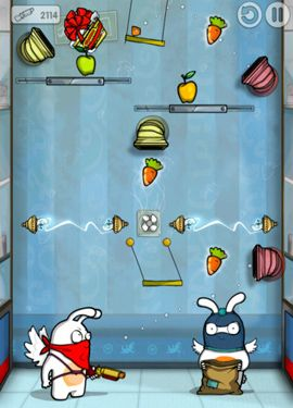 Screenshots of the Robber Rabbits! game for iPhone, iPad or iPod.