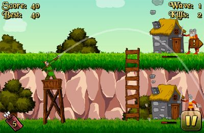Screenshots vom Spiel Robin Hood - Archer of the Woods für iPhone, iPad oder iPod.