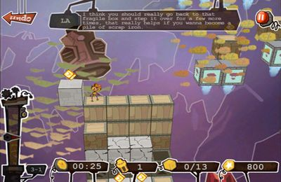 Screenshots of the Robo5 game for iPhone, iPad or iPod.