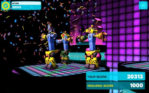 Écrans du jeu Robot dance party pour iPhone, iPad ou iPod.