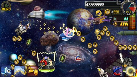Screenshots of the Robot fly game for iPhone, iPad or iPod.