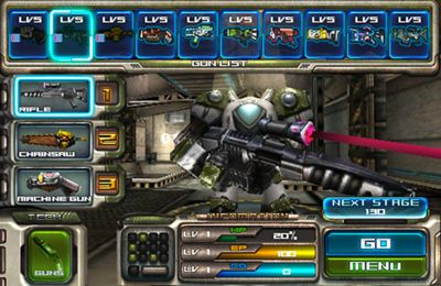 Screenshots of the Robot N Gun game for iPhone, iPad or iPod.