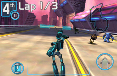 Capturas de pantalla del juego Robot Race para iPhone, iPad o iPod.
