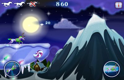 Screenshots vom Spiel Robot Unicorn Attack Christmas Edition für iPhone, iPad oder iPod.