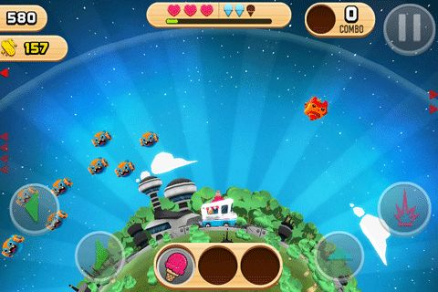 Free Robots love ice cream download for iPhone, iPad and iPod.