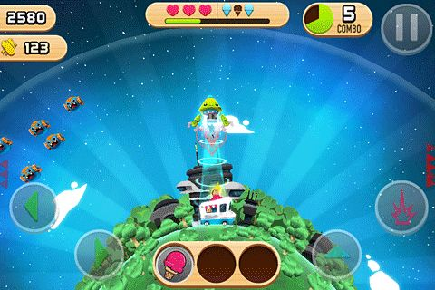 Screenshots of the Robots love ice cream game for iPhone, iPad or iPod.