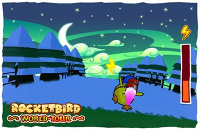 Screenshots vom Spiel Rocket Bird World Tour für iPhone, iPad oder iPod.