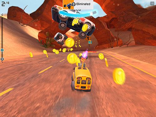 Screenshots of the Rocket cars game for iPhone, iPad or iPod.