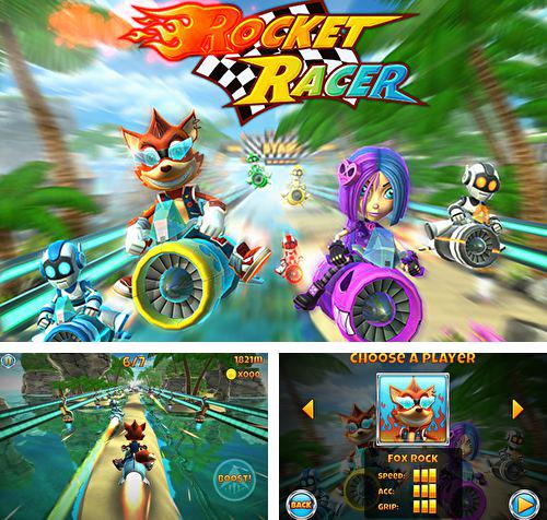 In addition to the game Subway moto escape for iPhone, iPad or iPod, you can also download Rocket racer for free.