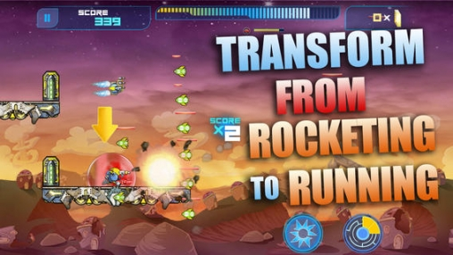 Screenshots of the Rocket Runner game for iPhone, iPad or iPod.
