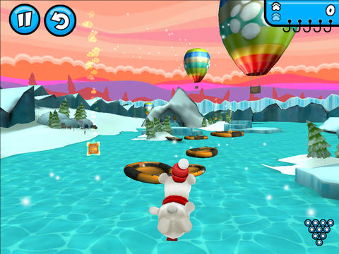 Screenshots of the Rollabear game for iPhone, iPad or iPod.