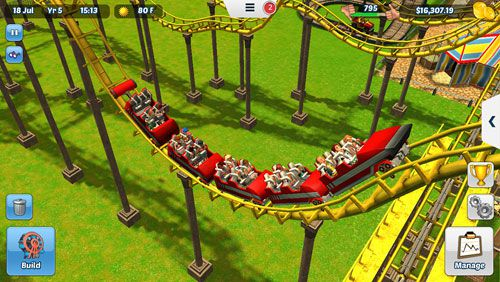 Capturas de pantalla del juego Roller coaster tycoon 3 para iPhone, iPad o iPod.