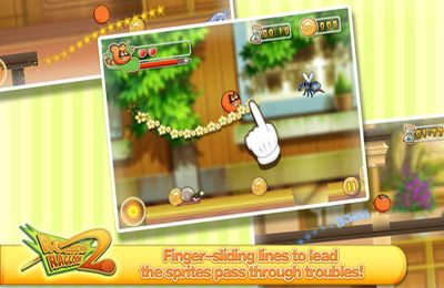 Screenshots of the Rolling Raccoon game for iPhone, iPad or iPod.