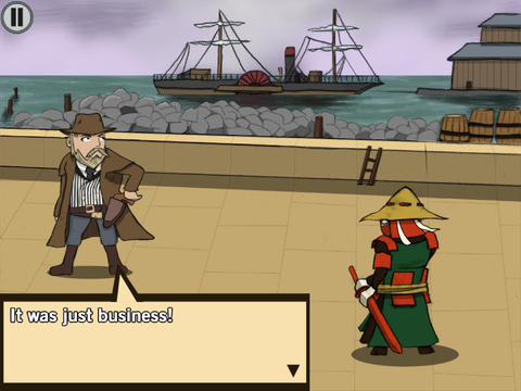 Screenshots of the Ronin's revenge game for iPhone, iPad or iPod.