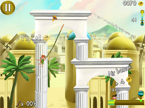 Screenshots vom Spiel Rope Escape Atlantis für iPhone, iPad oder iPod.