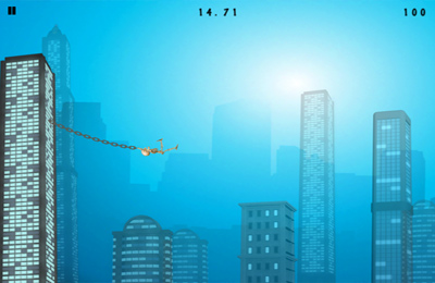 Screenshots vom Spiel Rope'n'Fly - From Dusk Till Dawn für iPhone, iPad oder iPod.