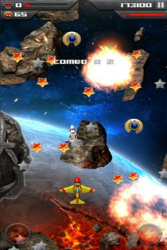 Screenshots of the Roswell Fighter Reloaded game for iPhone, iPad or iPod.