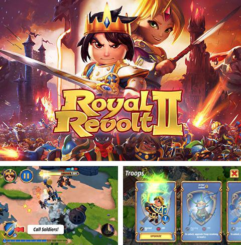 In addition to the game Candy crush friends saga for iPhone, iPad or iPod, you can also download Royal revolt 2 for free.