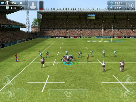 Écrans du jeu Rugby nations 15 pour iPhone, iPad ou iPod.