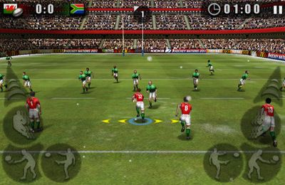 Capturas de pantalla del juego Rugby Nations 2011 para iPhone, iPad o iPod.