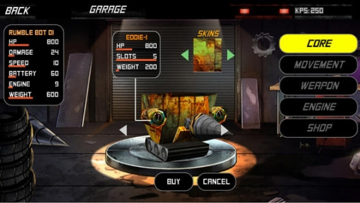Screenshots of the Rumble bots game for iPhone, iPad or iPod.