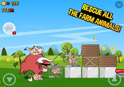 Écrans du jeu Run Cow Run pour iPhone, iPad ou iPod.