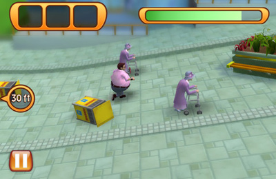 Screenshots vom Spiel Run Fatty Run für iPhone, iPad oder iPod.