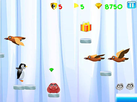 Écrans du jeu Run Kelvin: Penguin escape pour iPhone, iPad ou iPod.